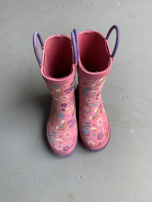 Little Girls Unicorn Rain Boots 7/8 for Sale in Decatur, GA