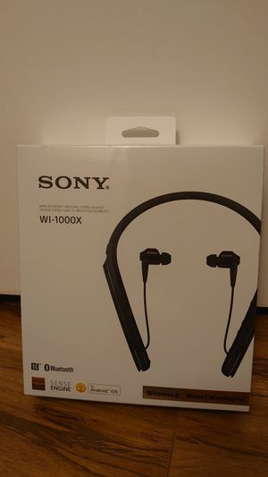 Sony noise cancelling neckband earbuds for Sale in Fort Lauderdale, FL