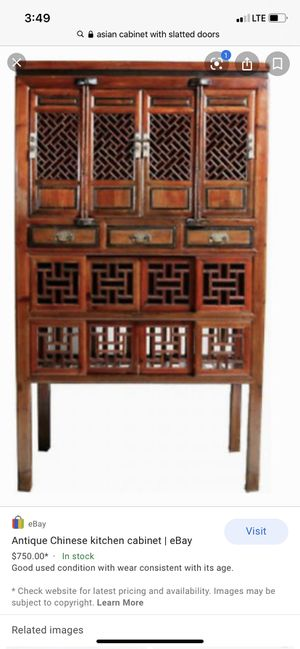 Antique Asian chinese cabinet armoire for Sale in Irvine, CA