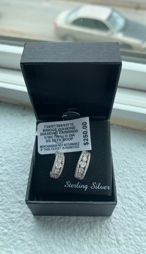 Bridge Diamond Earrings for Sale in Oakland, CA