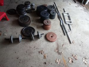 Weights, bars, etc for Sale in Matteson, IL