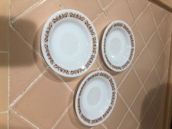 Pyrex teacup saucers