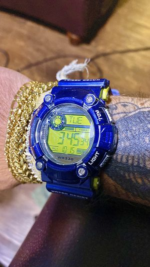 SUPER COOL 😎😎😎!!! Blue and Green Digital Sports Watch !! for Sale in Los Angeles, CA
