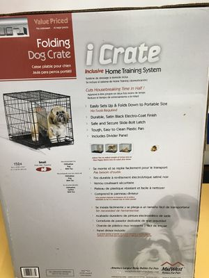 MidWest Homes for Pets Dog Crate | iCrate Single Door & Double Door Folding Metal Dog Crates | Fully Equipped for Sale in Kensington, MD