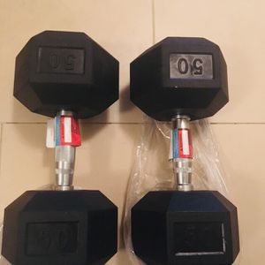 50LB Rubber Hex Dumbbells. Total 100Lb. Brand New! for Sale in Bellevue, WA
