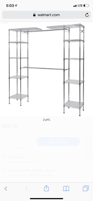 Expandable clothing rack & organizer for Sale in Glen Burnie, MD