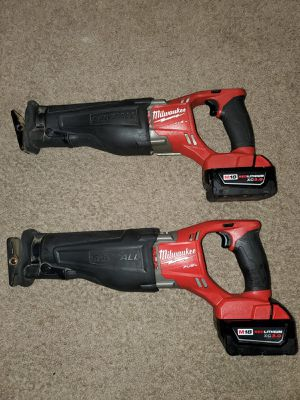 Sawsall Milwaukee m18 fuel brusshless $120 each. $120 cada 1 for Sale in Alexandria, VA