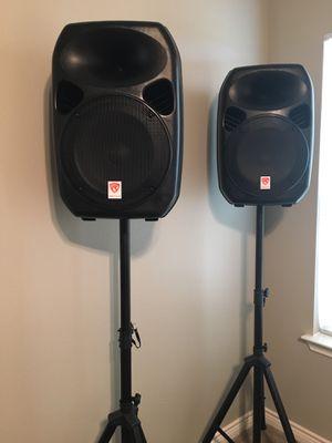 Brand New Rockville Power Gig Speakers and Mic for Sale in Harlingen, TX