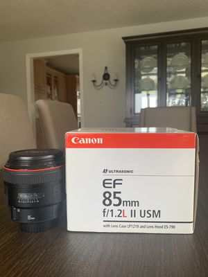 CANON 85mm 1.2 II USM for Sale in CT, US