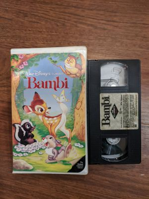 Walt Disney Black Diamond Bambi VHS for Sale in Sunrise, FL