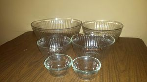4 Pyrex Glass Nesting Bowls plus 2 Glass Ingredient Bowls for Sale in Boonville, IN