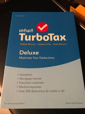Opened/used TurboTax 2018 mint condition. For PC or MAC-Deluxe for Sale in DeSoto, TX