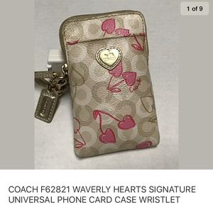 Coach phone card case for Sale in Mantachie, MS