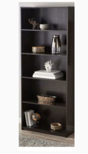 Brand New Black 5 Shelves Bookcase in Closed Box for Sale in Gilbert, AZ