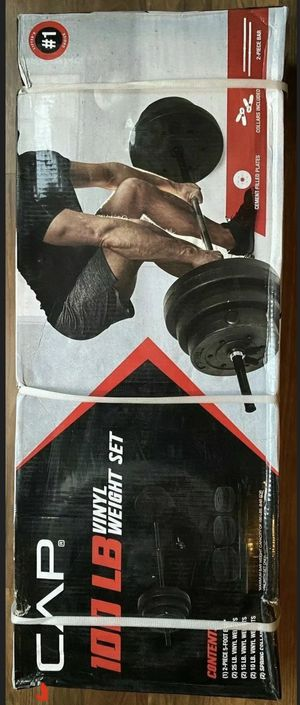 100 lb Vinyl Weight Set with Barbell for Sale in Greenville, NC