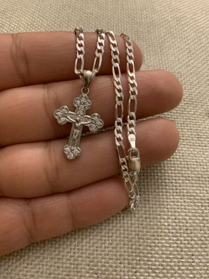 Women 925 sterling silver chain with cross pendant for Sale in Whittier, CA