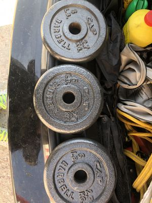 Three 6lb weights for Sale in Colorado Springs, CO