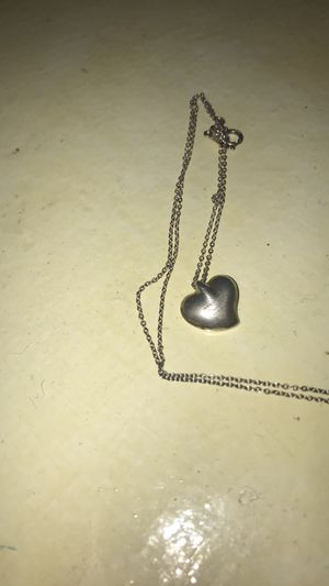 Old silver Tiffany and co heart necklace for Sale in Milton, MA