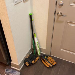 Men & Women Baseball Bats + 2 Gloves for Sale in Dallas, TX