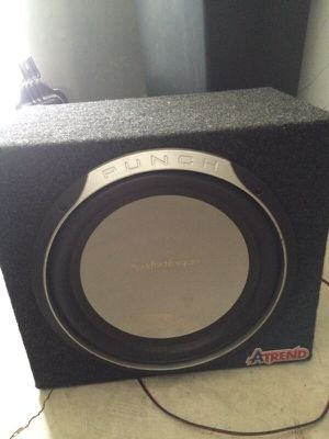 "Punch 12"" subwoofer w/ box for Sale in Atlanta, GA"