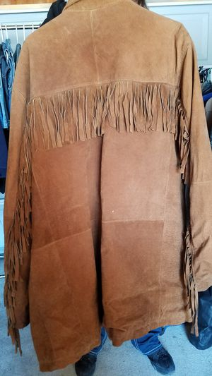 Suede Brown Leather Jacket Large for Sale in Williamstown, NJ