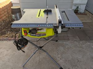 Ryobi 10-in rolling stand expandable table saw for Sale in Brea, CA