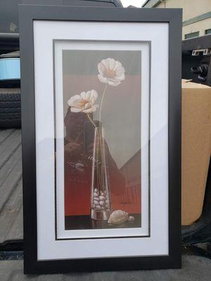 Black Framed Flower in Vase wall decor for Sale in La Porte, TX