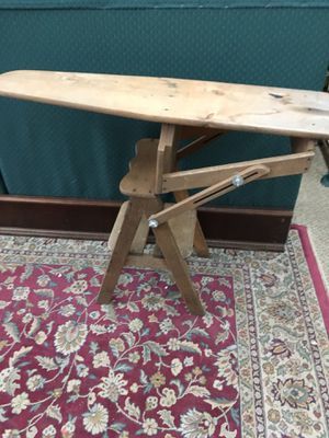 Antique Jefferson Bachelor Chair/stool / Ironing board for Sale in Campobello, SC
