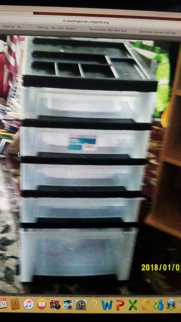 5 tray rolling cart