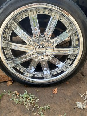"20"" chrome rims and tires for Sale in Fresno, CA"