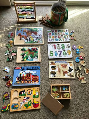 Big wooden puzzles -toys for children 😊 for Sale in Everett, WA