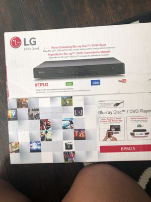 Netflix/ Hulu etc It is also a Blu-ray player as well brand new for Sale in Philadelphia, PA