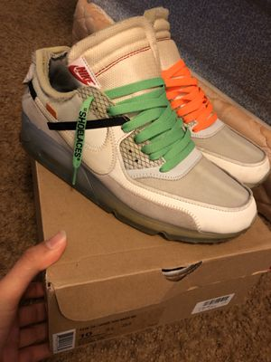 Off-White Nike Air Max 90 size 10 for Sale in North Richland Hills, TX