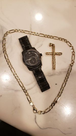 Gold chain and movado watch for Sale in North Las Vegas, NV