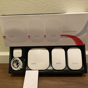 EERO Pro + 2 Beacons M010301 2nd Generation Home WiFi System for Sale in Vancouver, WA
