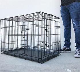 """$45 (brand new) double door 36"""" dog cage crate 36x23x25"""" for Sale in La Mirada,  CA"""