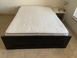 Moving sale-queen size Sealy Mattress and bed frame for Sale in Charlottesville, VA