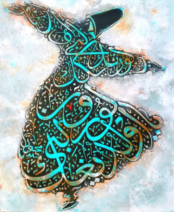 Ibn rumi painting on canvas