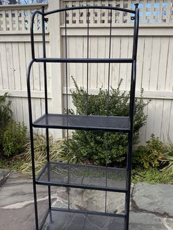 Outdoor IKEA Black Storage/ Plant Stand for Sale in Alexandria, VA