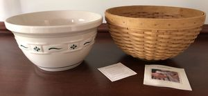 """Longaberger 11"""" Bowl Basket w/11""""Mixing Bowl-NEW for Sale in Granville, OH"""