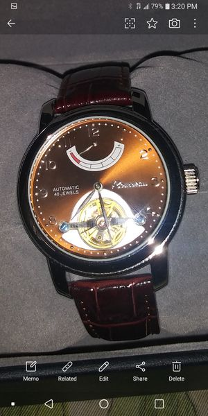 NEW Rousseau MENS AUTOMATIC WATCH NEW IN BOX for Sale in San Gabriel, CA