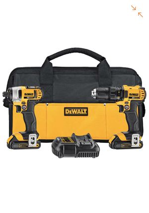 DEWALT 20-Volt MAX Lithium-Ion Cordless Drill/Impact Combo Kit (2-Tool) with (2) Batteries 1.5Ah, Charger and Tool Bag for Sale in Horn Lake, MS