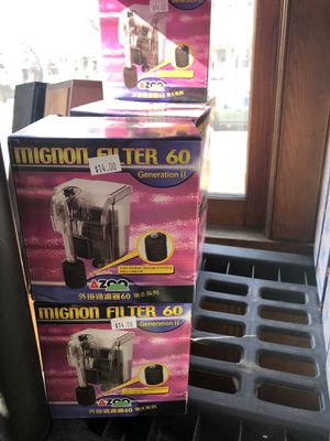 AZOO Aquarium Mignon Filter 60 PALM hob hang on back tank up to 7.5g gallon NEW for Sale in Saint Paul, MN