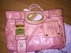 Juicy Couture Pink Leather Handbag for Sale in North Bethesda, MD