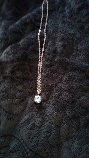Rose Gold 2 ct. Swarovski Crystal Necklace for Sale in Lexington, SC