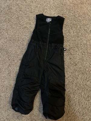 4T black bib overall snow pants (white Sierra) for Sale in Naperville, IL