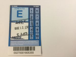 3 Metra 10 ride tickets A-E. $50 each. Cash and carry. Meet in Downtown or near Arlington Park station. Expire October 2020 for Sale in Palatine, IL
