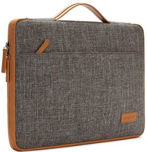 "15.6 Inch Laptop Sleeve Canvas Notebook Portable Carrying Bag Case Handbag for 15.6"" HP/Microsoft/Apple/Lenovo/Acer/ASUS/Dell, Brown for Sale in Las Vegas, NV"