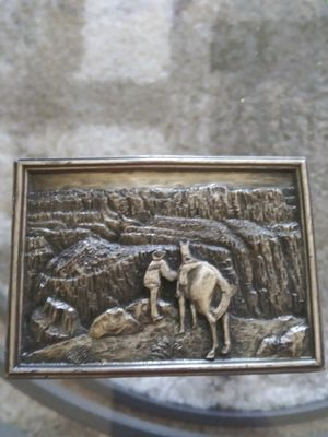 COLLECTIBLES..1977 Bergamot Brass Works Grand Canyon Belt Buckle.HARD TO FIND for Sale in Lincoln Acres, CA