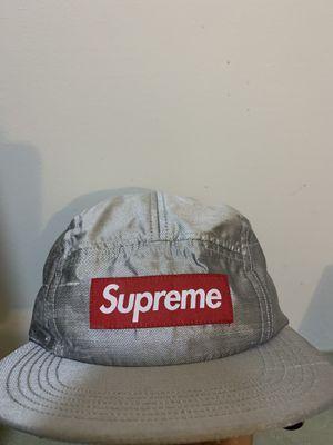 Supreme Box Logo Hat (raw silk camp cap) for Sale in Fairfax, VA